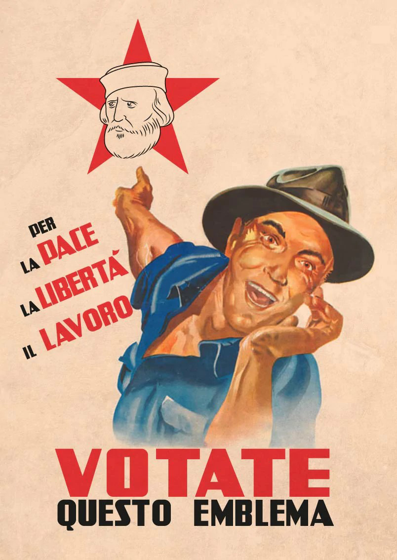Per la pace, la libertà, il lavoro: votate questo emblema