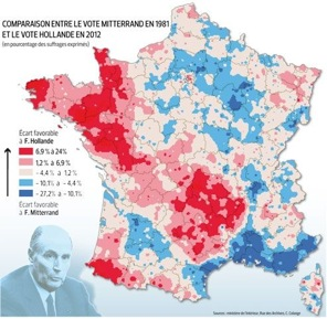france map2 Francia: come cambia la geografia del voto