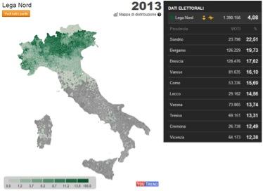 lega italia 2013 LItalia tripolare (ovvero nel Paese dei ciechi lorbo è re): analisi sul voto del 24 25 febbraio