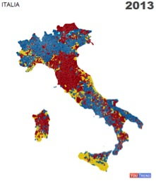 mappa comuni italia 20131 LItalia tripolare (ovvero nel Paese dei ciechi lorbo è re): analisi sul voto del 24 25 febbraio