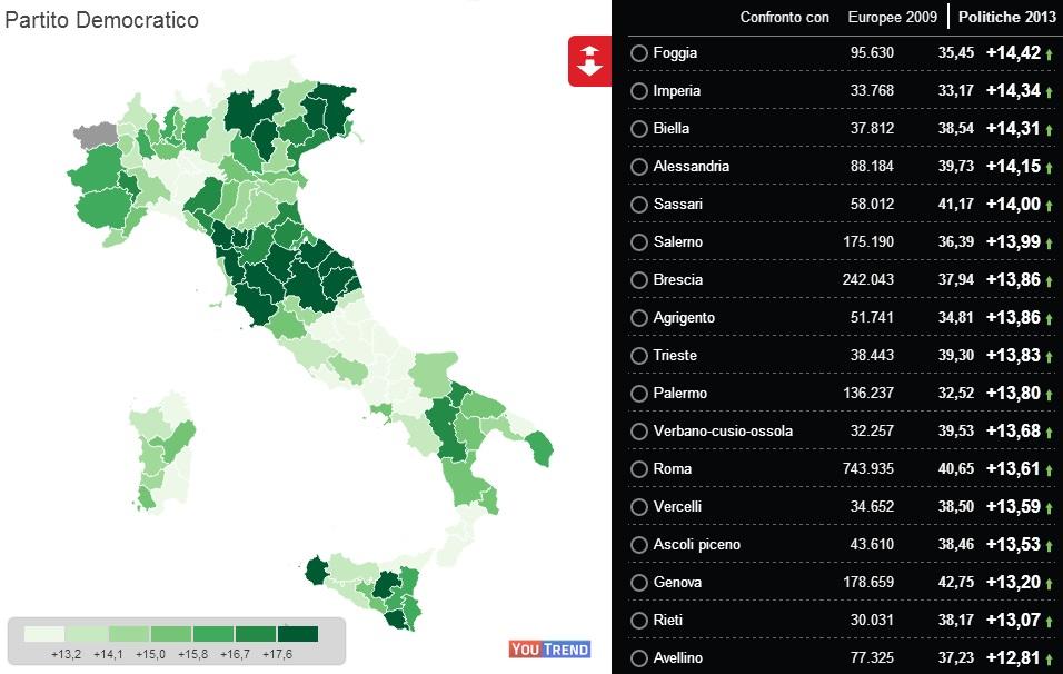 1 Geografia elettorale delle Europee 2014