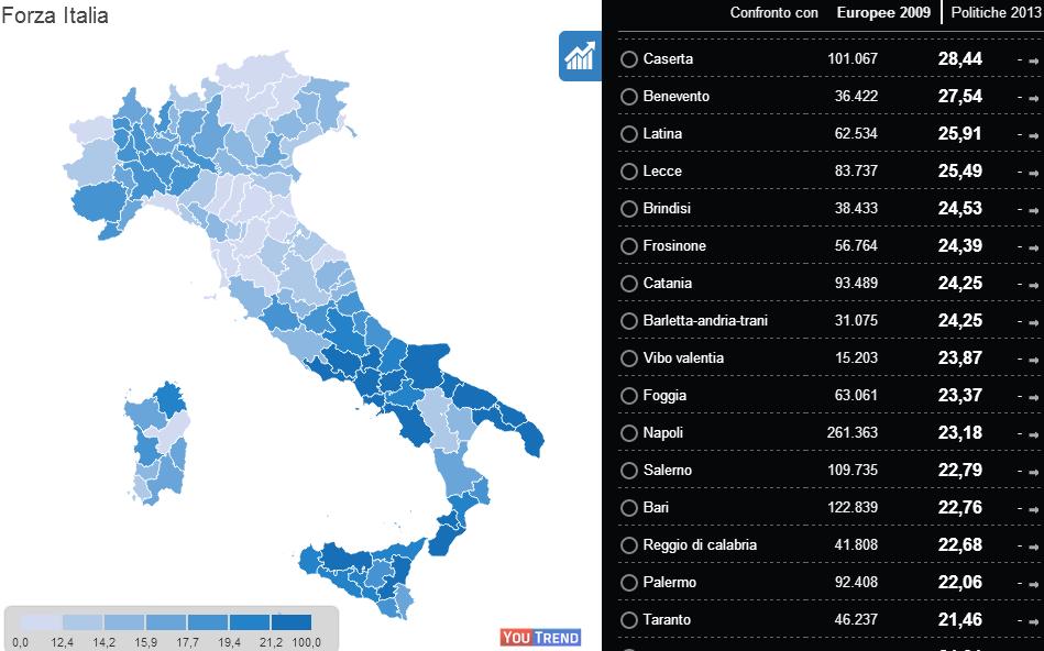 3 Geografia elettorale delle Europee 2014