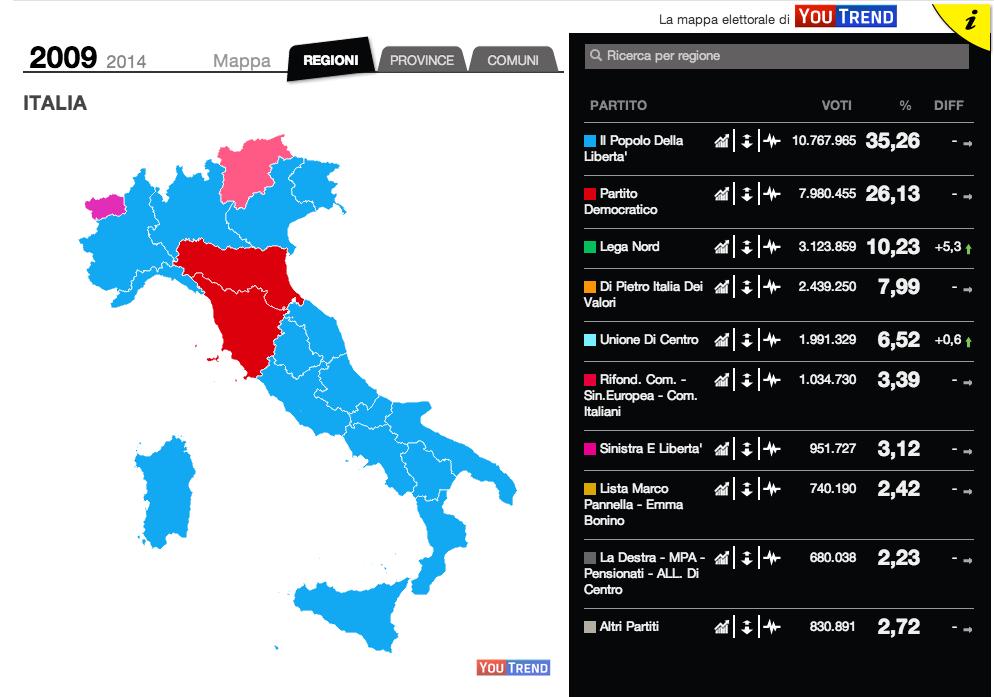 Mappa interattiva Europee