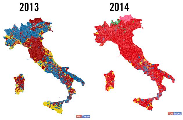 mappa20132014 630x414 Elezioni europee e amministrative 2014: la DIRETTA (archivio)