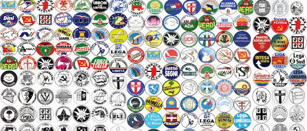 Il grande numero di partiti in italia youtrend for Tutti i politici italiani