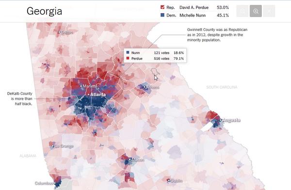 Le mappe per voting precinct della Georgia