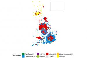 L'attuale cartogramma dei seggi