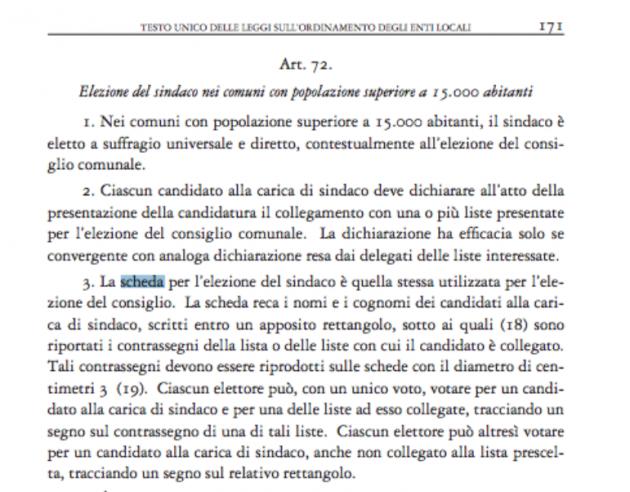 Il nuovo art. 72 del Testo Unico sugli Enti Locali, così come modificato dalla Legge di stabilità 2014