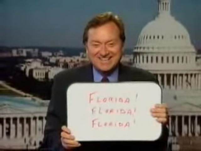 """Tim Russert, il principe dei giornalisti politici americani, durante le elezioni del 2000 a un certo punto tirò fuori una lavagnetta con scritto """"Florida! Florida! Florida!"""", quando fu chiaro che la corsa alla Casa Bianca dipendeva solo dalla Florida"""