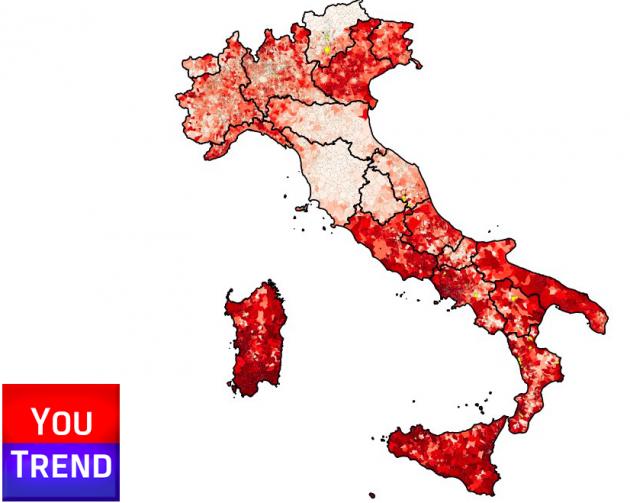 mappa NO comuni 630x503 Referendum costituzionale: tutti i numeri