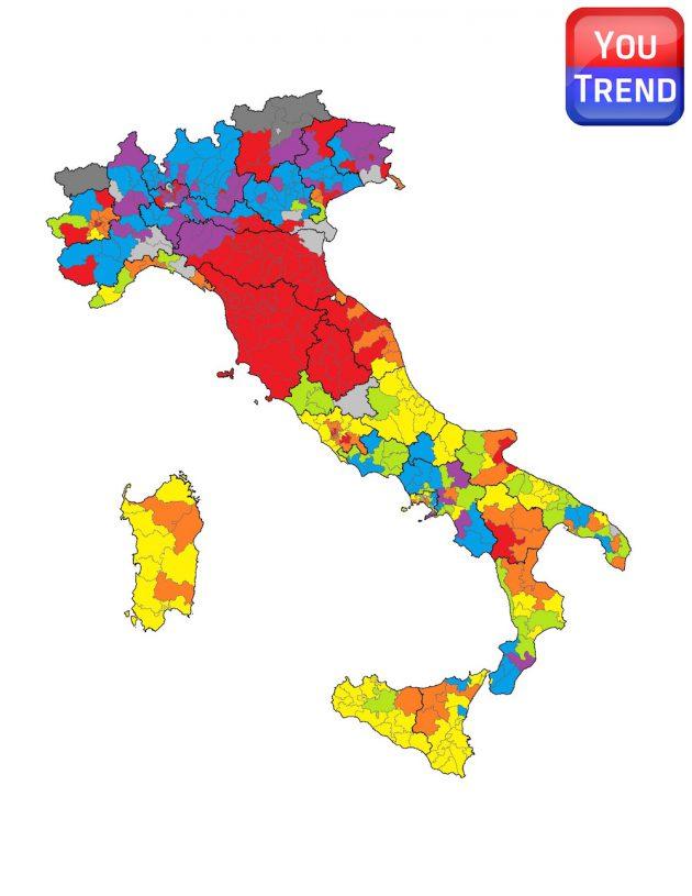Collegi Uninominali Camera dei Deputati Italiana 630x815 Il Mattarellum e lItalia divisa in tre