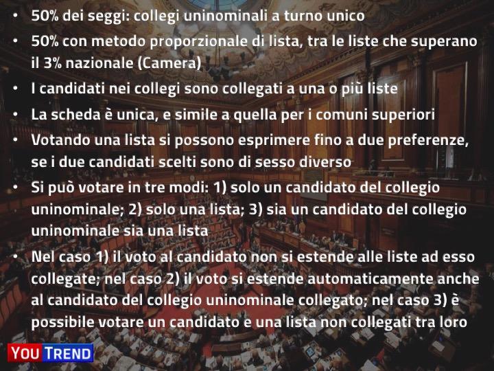 scheda magnum Legge elettorale, la proposta di YouTrend: ecco come funziona