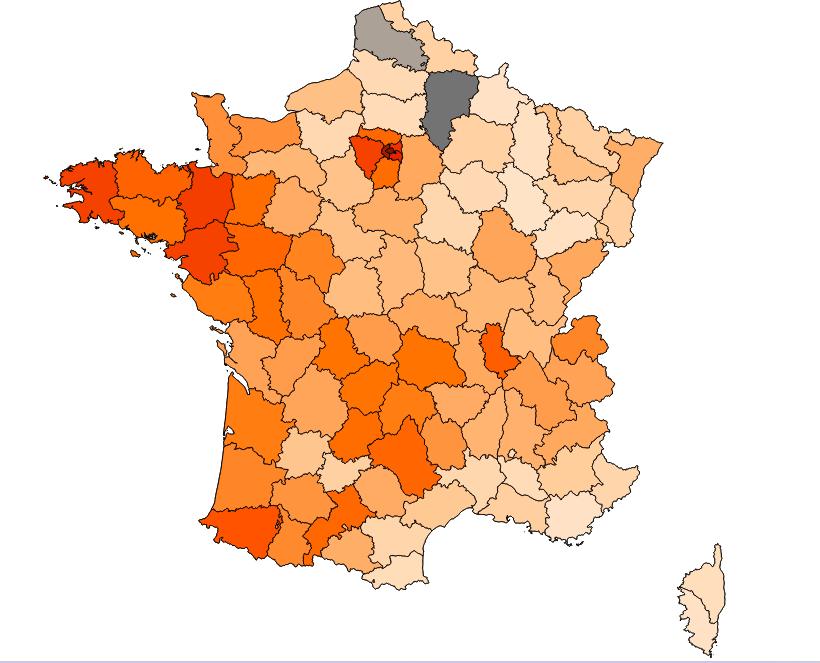 mappa dipartimenti ballottaggio Sette cose che la vittoria di Macron ci dice sulla Francia