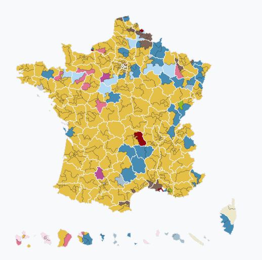 mappa 1 turno legi francia I numeri di Macron per governare la Francia