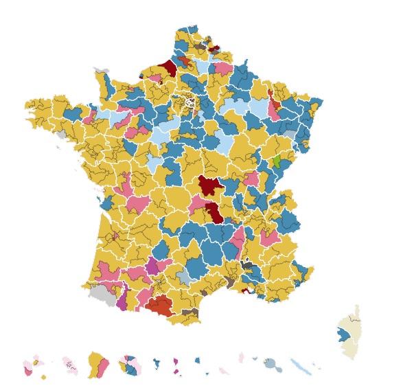 mappa 2 turno legi francia I numeri di Macron per governare la Francia