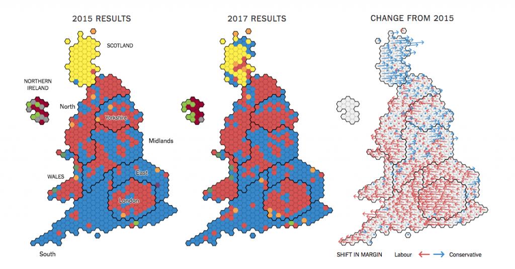 mappa NYT voto uk 1024x535 Regno Unito: analisi del voto