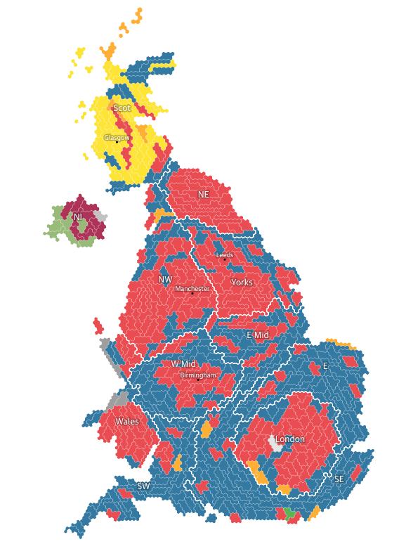 mappa guardian Regno Unito: analisi del voto