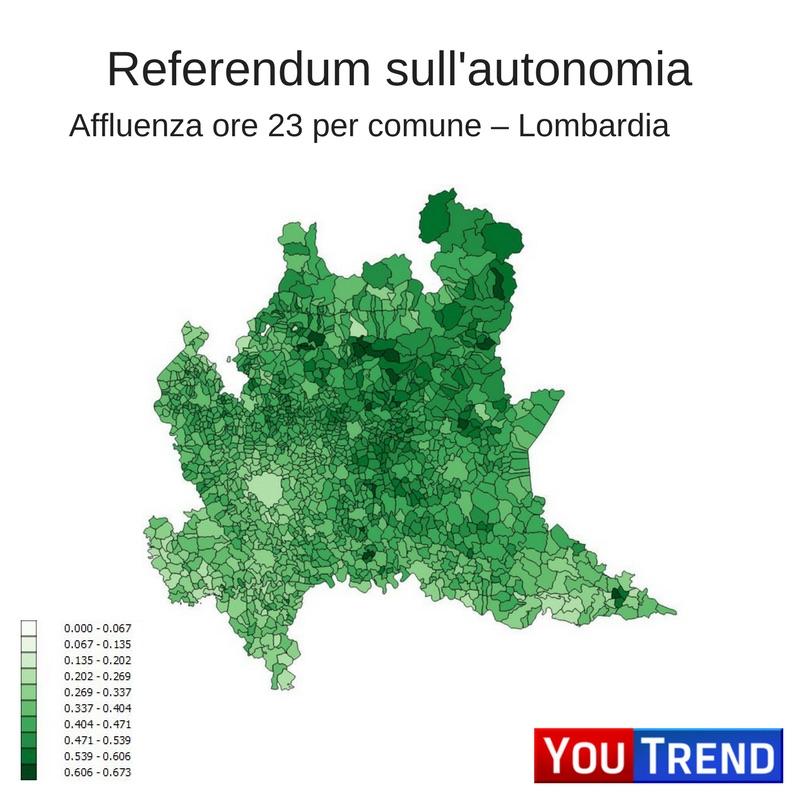 mappa lom 5 cose sul referendum in Lombardia e Veneto
