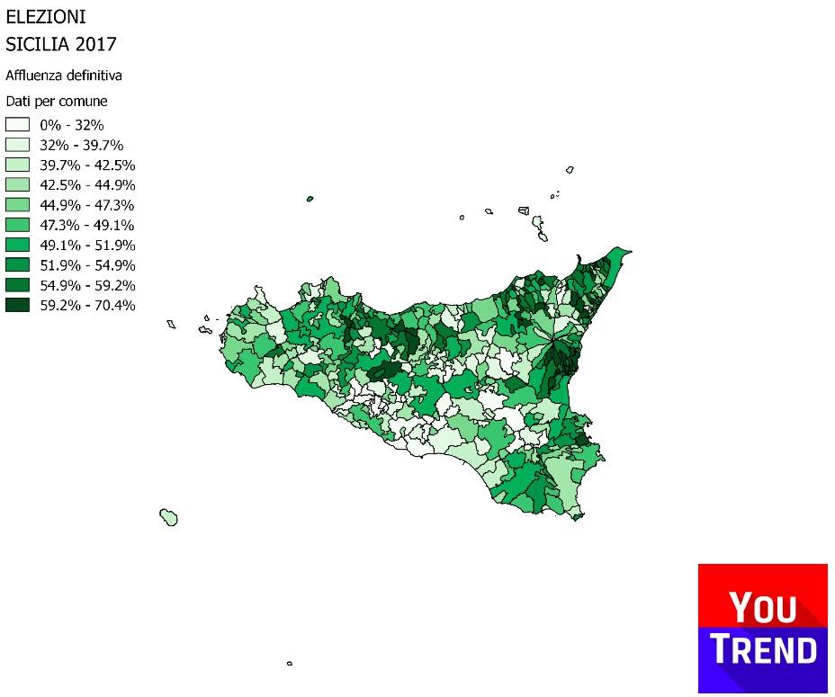 afflu sicilia comuni DEF Cosè successo alle elezioni regionali in Sicilia