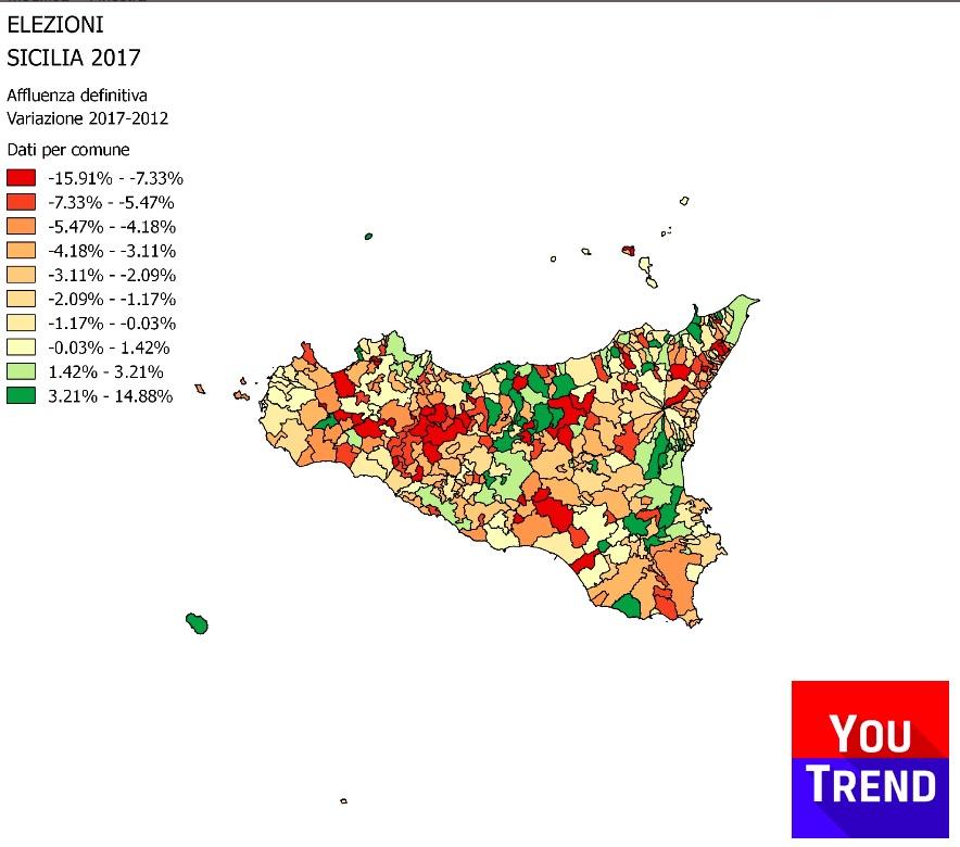 afflu sicilia var 2012 Cosè successo alle elezioni regionali in Sicilia