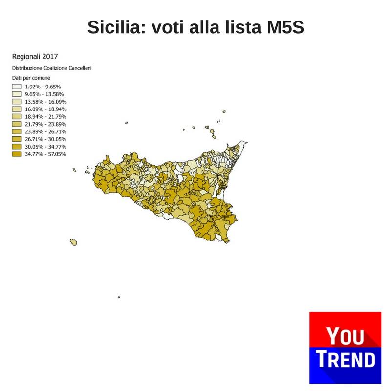 sicilia m5s Cosè successo alle elezioni regionali in Sicilia