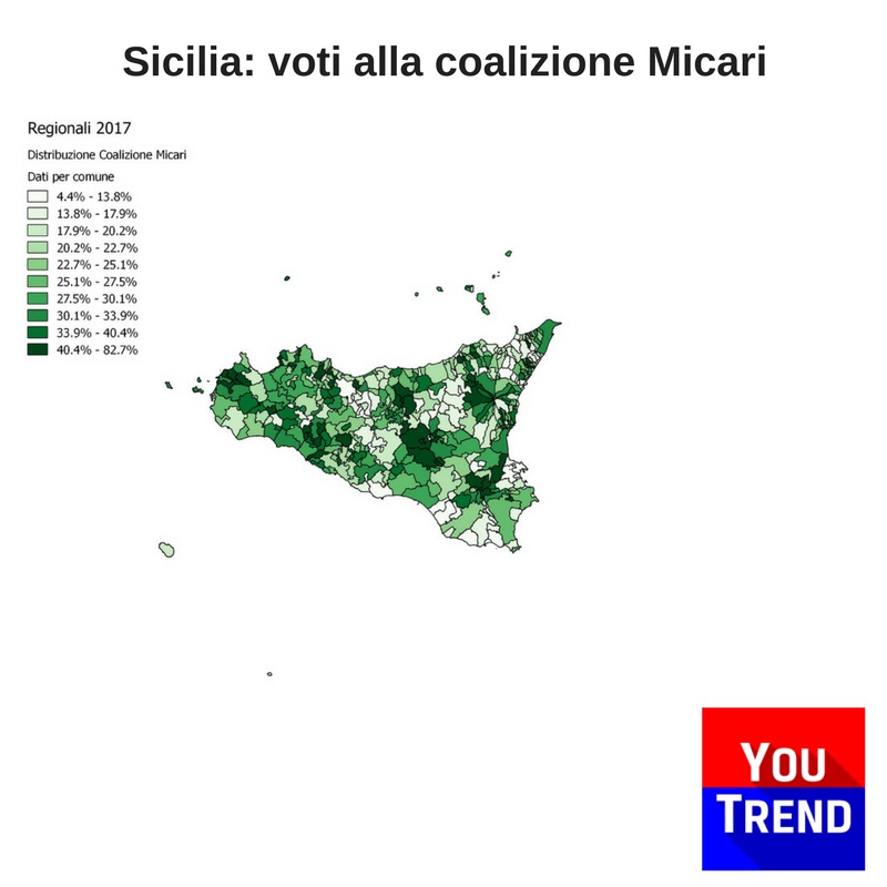 sicilia micari Cosè successo alle elezioni regionali in Sicilia