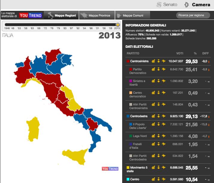 anteprima mappa2013 2013 2018: i 5 anni che hanno capovolto lo scenario politico
