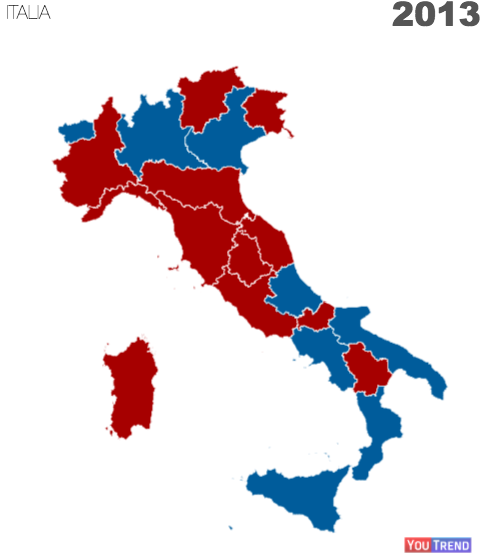 2013 regSen La nuova geografia politica dellItalia