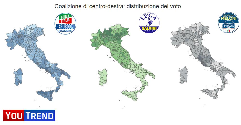 Dashboard 1 2 Centrodestra: il sorpasso di Salvini