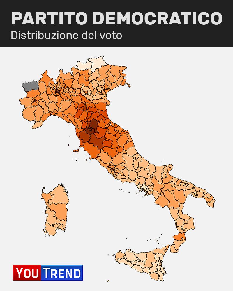 PD Addio zone rosse: il centrosinistra si rinchiude nei centri urbani