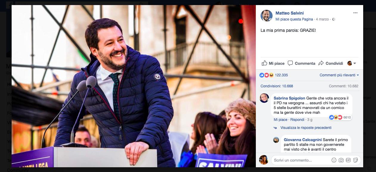 Schermata 03 2458186 alle 16.49.01 Centrodestra: il sorpasso di Salvini