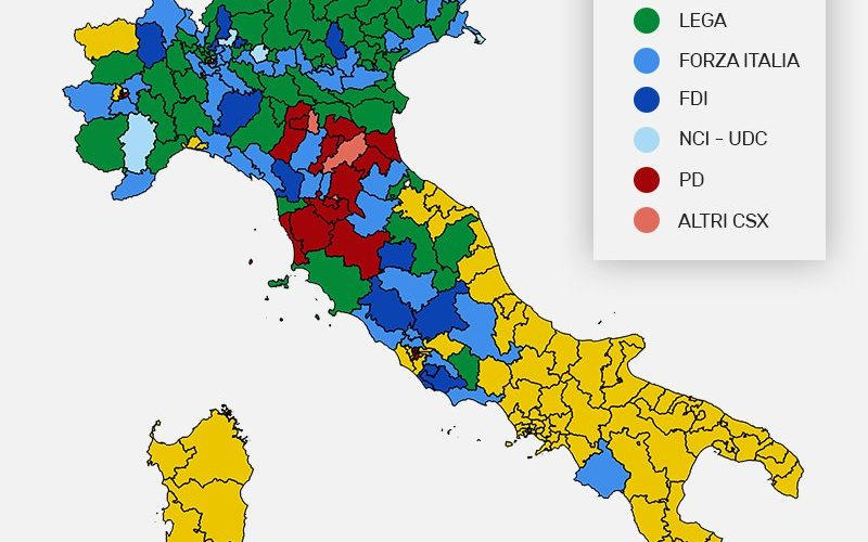 Cartina Italia Politica Torino.La Nuova Geografia Politica Dell Italia Youtrend