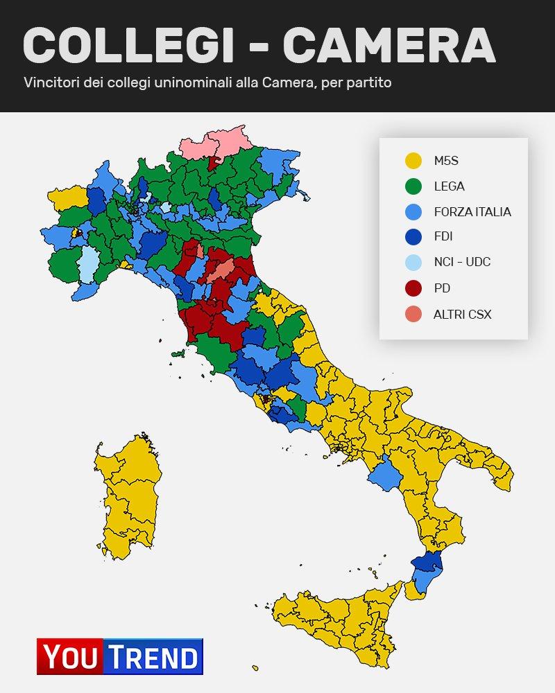const map chamber Politiche 2018: analisi del voto