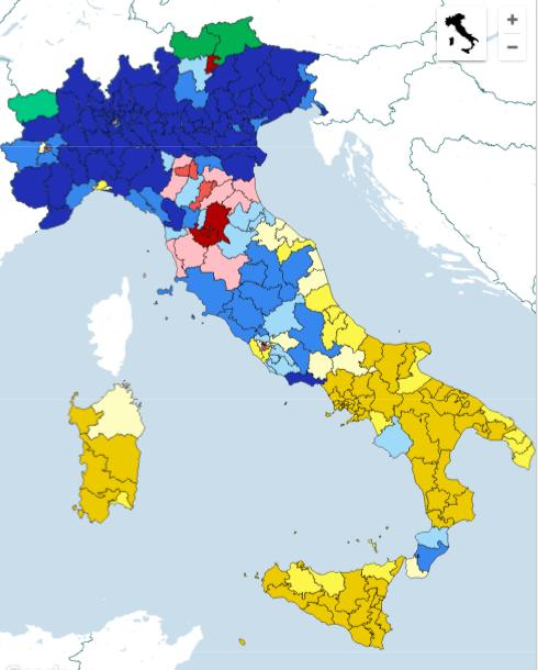 win collegi cam La nuova geografia politica dellItalia