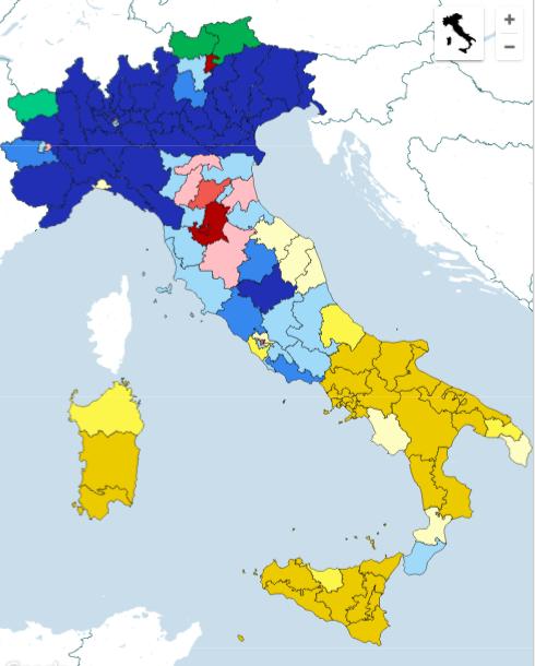 win collegi sen La nuova geografia politica dellItalia