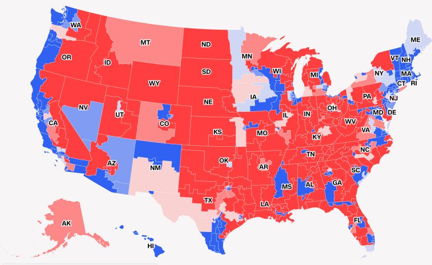 mappa midterm americane Camera ai democratici, ma i repubblicani reggono