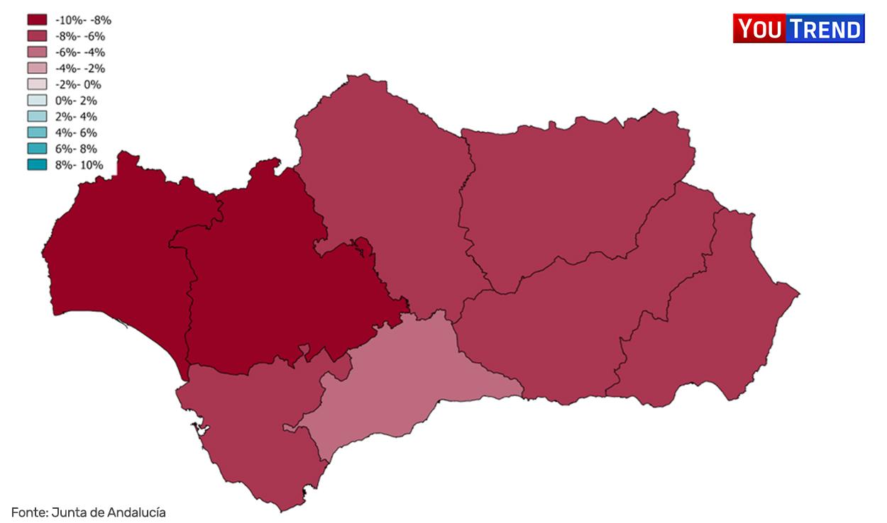 PSOE 2015 vs 2018