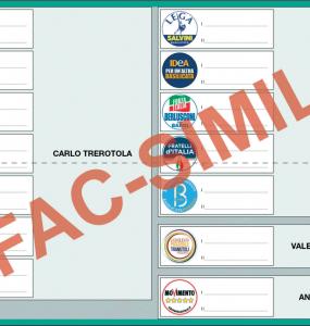 Scheda elettorale Basilicata