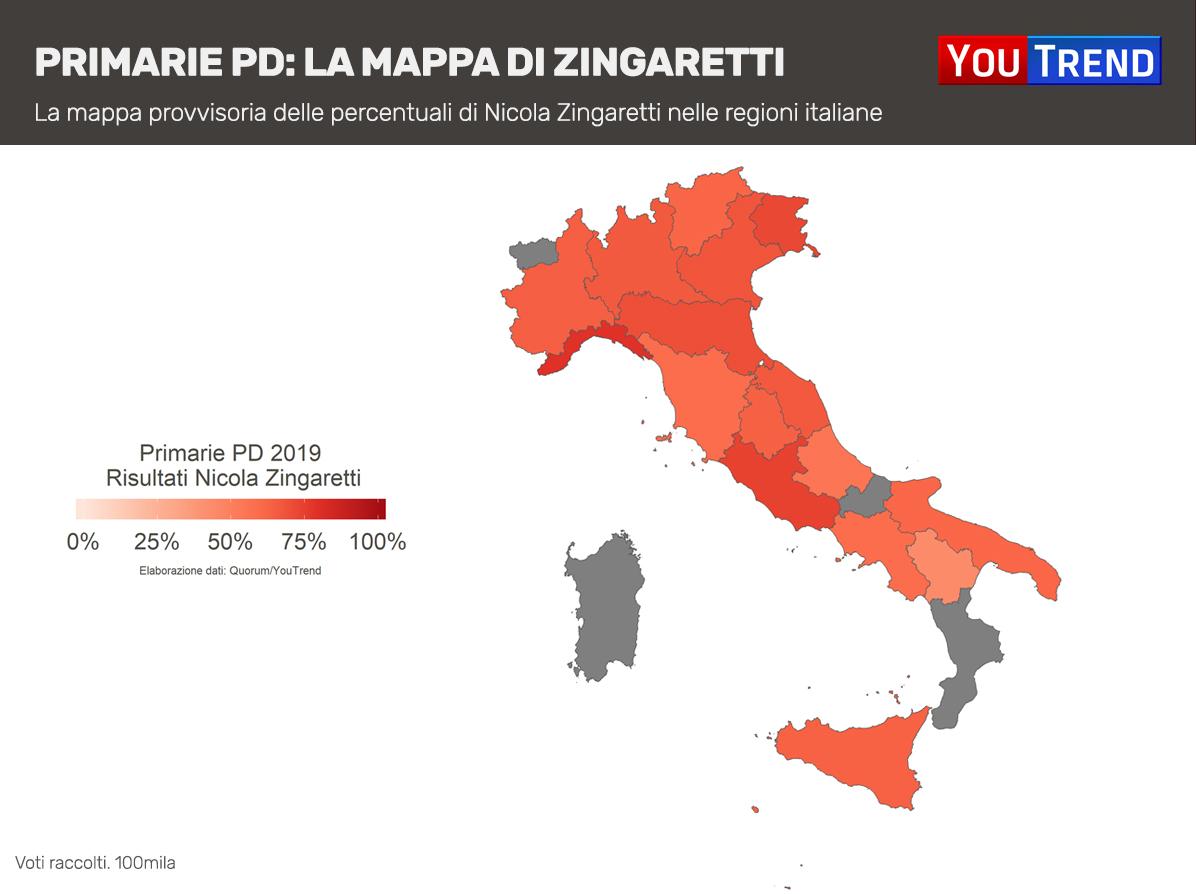 Mappa Zingaretti