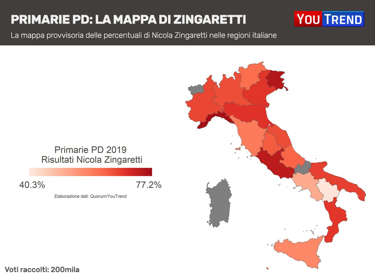 Nicola Zingaretti Mappa