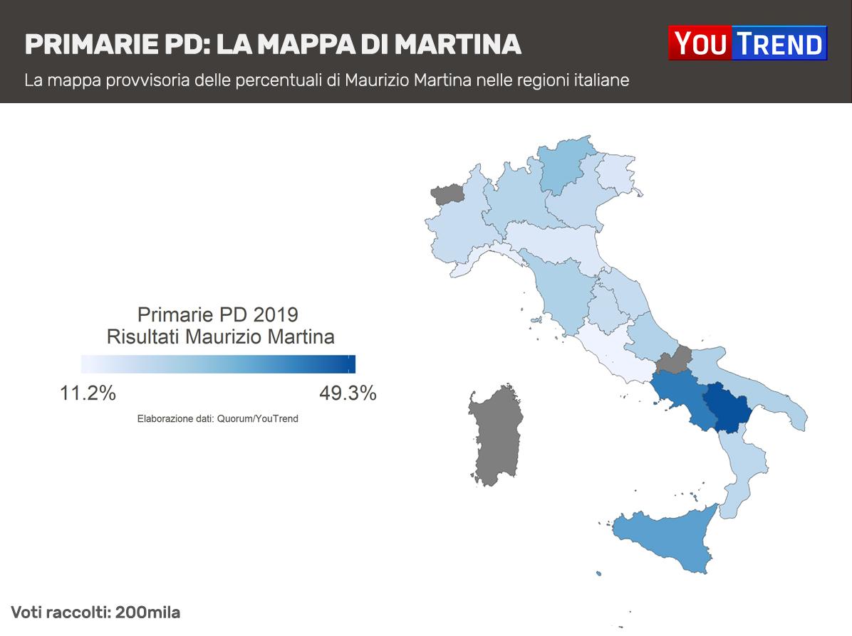 Maurizio Martina mappa