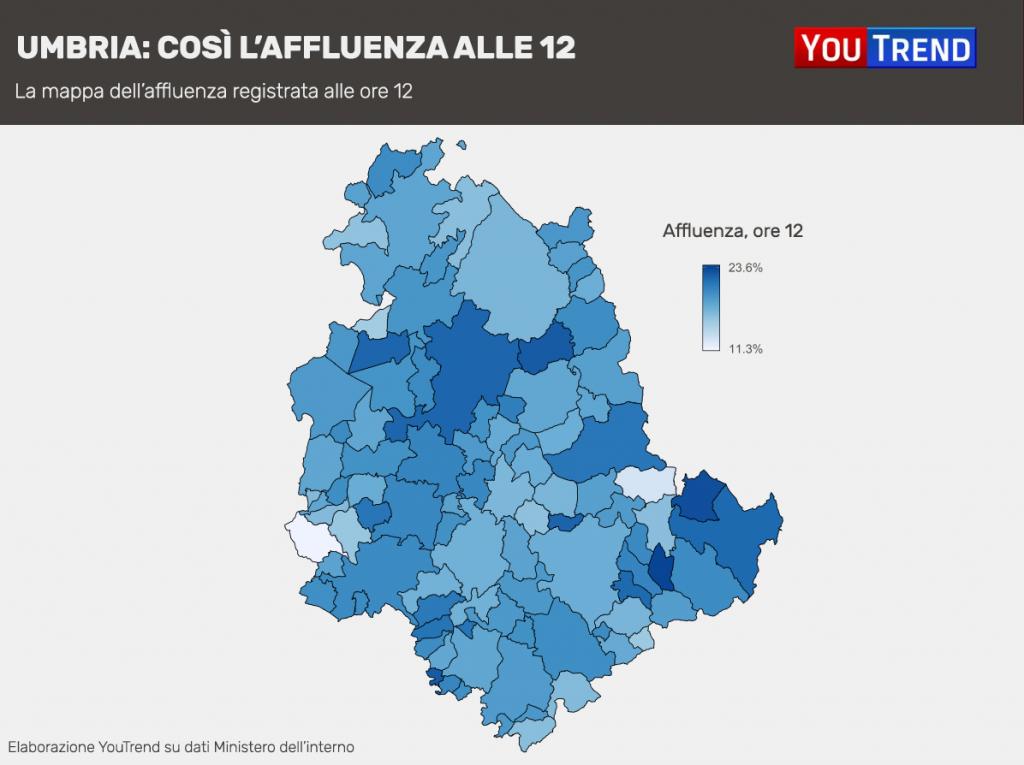 Regionali Umbria: Affluenza