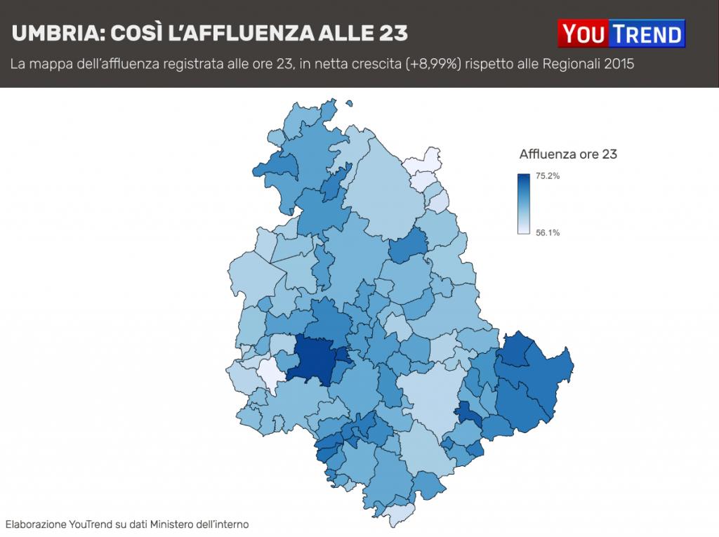 Affluenza Regionali Umbria