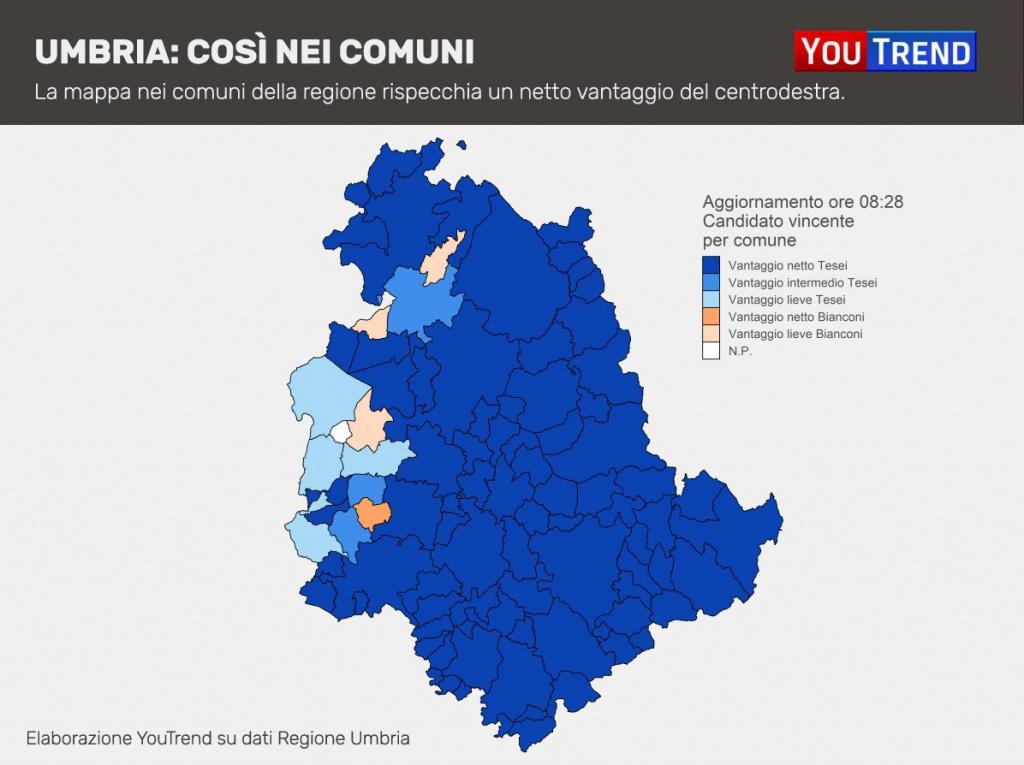 Cartina Comuni Umbria.Risultati Elezioni Regionali Umbria La Diretta Youtrend