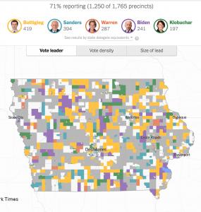 Mappa New York Times Iowa distretti