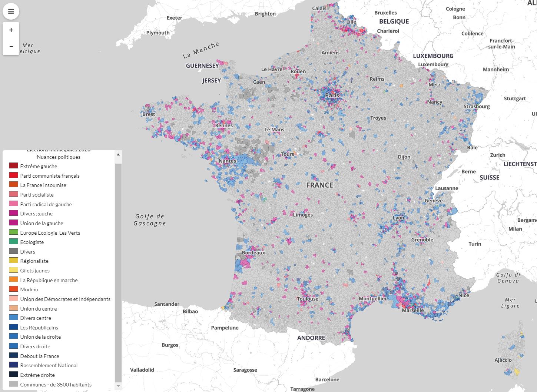 Humanite mappa Francia