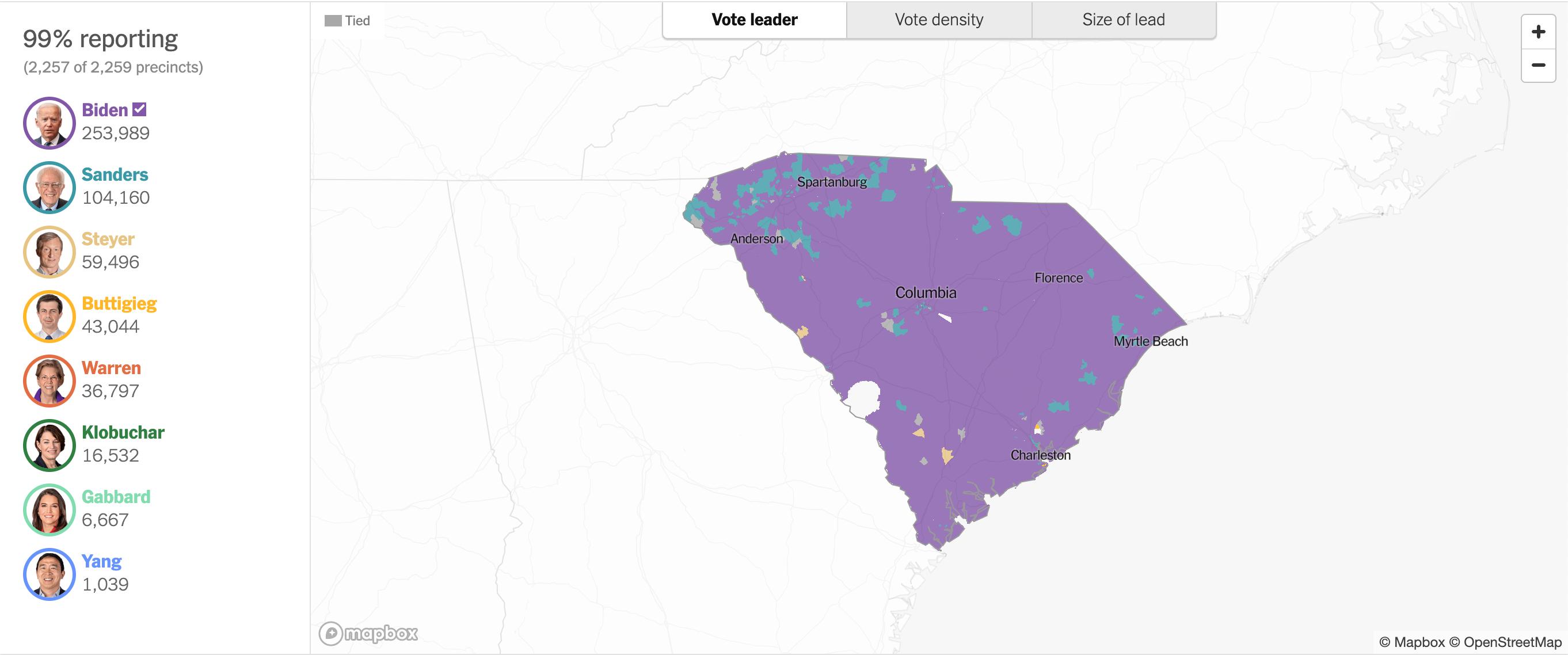 Mappa South Carolina