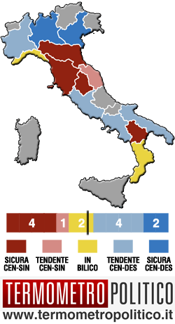 Mappa elettorale Regionali